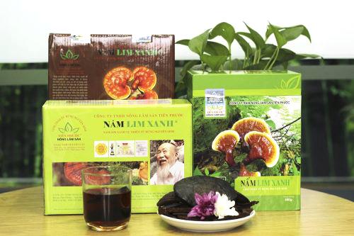 Sản phẩm nấm lim xanh Tiên Phước được bán trong các đại lý ủy quyền chính thức tại Quảng Nam