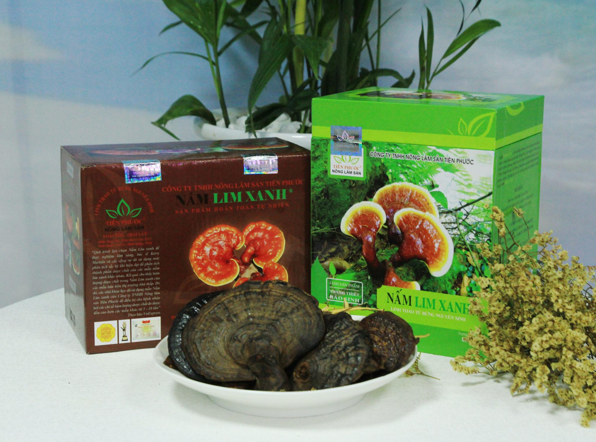 Sản phẩm nấm lim xanh Tiên Phước được bán trong các đại lý ủy quyền chính thức tại Lạng Sơn
