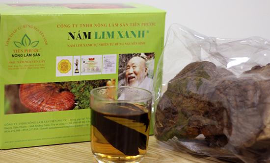 Sản phẩm nấm lim xanh Tiên Phước được bán trong các đại lý ủy quyền chính thức tại Lào Cai