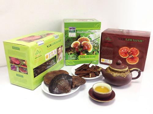 Sản phẩm nấm lim xanh Tiên Phước được bán trong các đại lý ủy quyền chính thức tại Long An