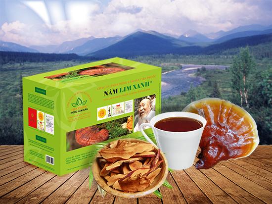 Sản phẩm nấm lim xanh Tiên Phước được bán trong các đại lý ủy quyền chính thức tại Nam Định