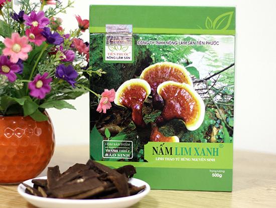 Sản phẩm nấm lim xanh Tiên Phước được bán trong các đại lý ủy quyền chính thức tại Nghệ An