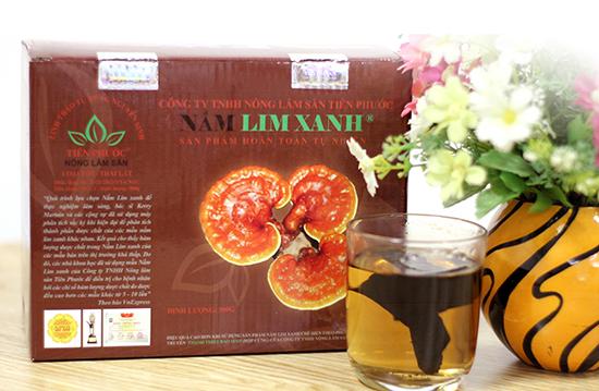 Sản phẩm nấm lim xanh Tiên Phước được bán trong các đại lý ủy quyền chính thức tại Phú Thọ