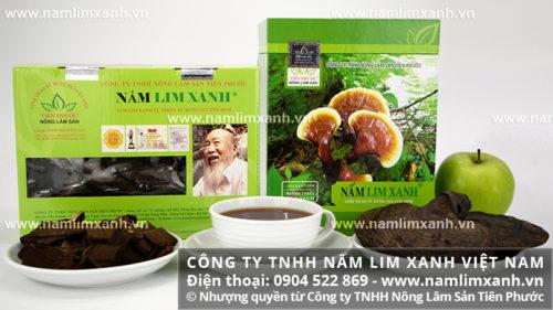 Sản phẩm nấm lim xanh công ty Tiên Phước
